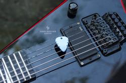 blue anodized titane guitar pick