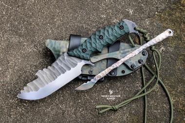 custom survival bushcraft fixed blade