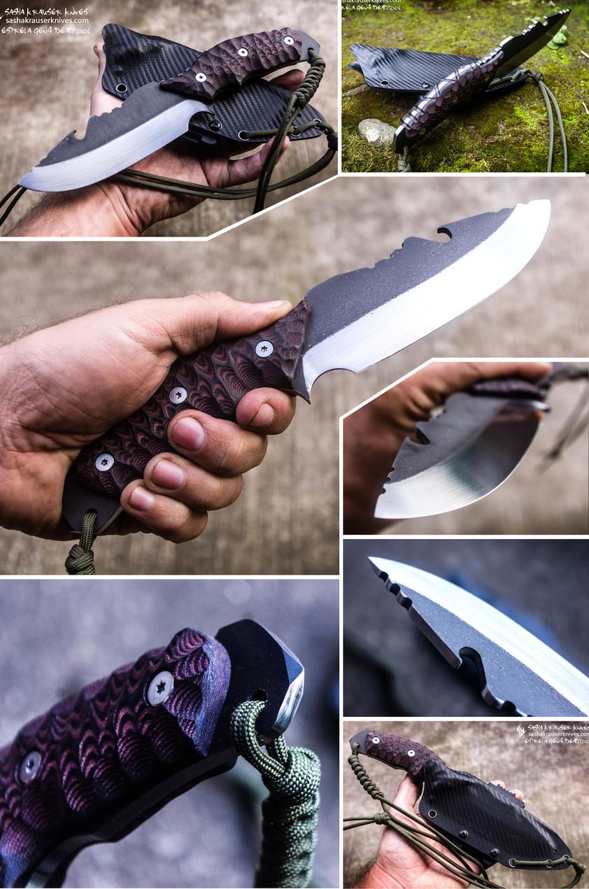 estrela v2 handmade custom bushcraft knife
