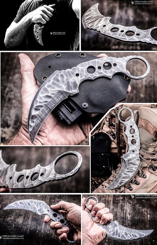 karambit griffe du raptor badass knife