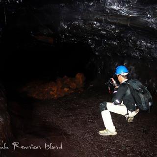 tunnel de lave à l'île de la Réunion