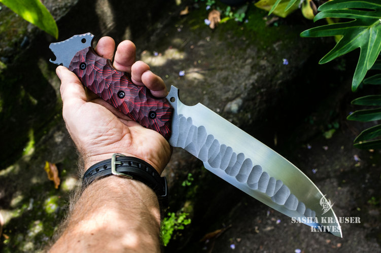 venom big fighter drop point knife
