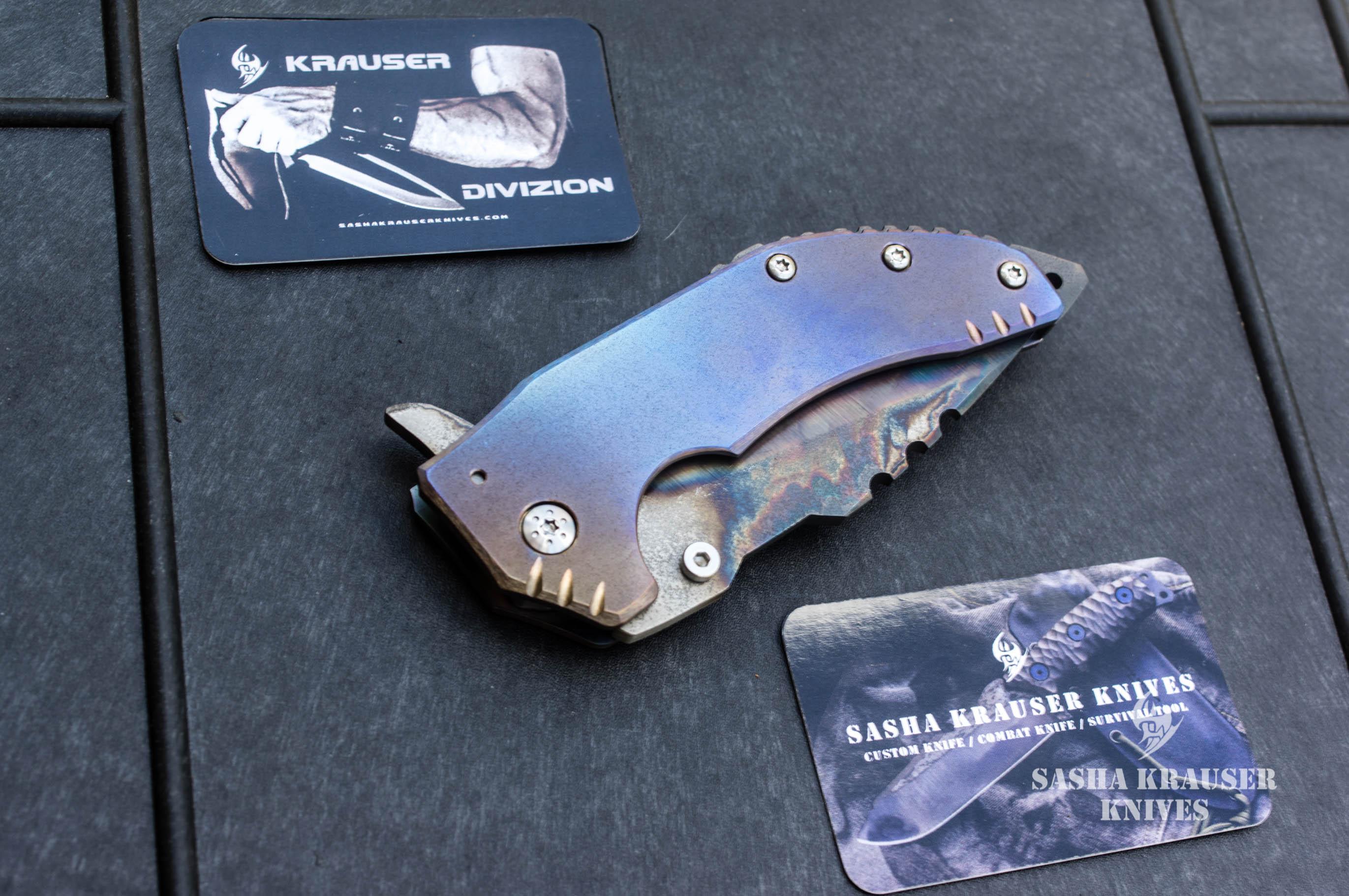 katharsys v3 recurve drop point knife
