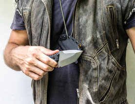 Francky4fingers couteau de cou edc