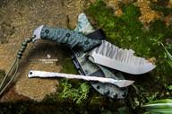 couteau bushcraft survie lame fixe