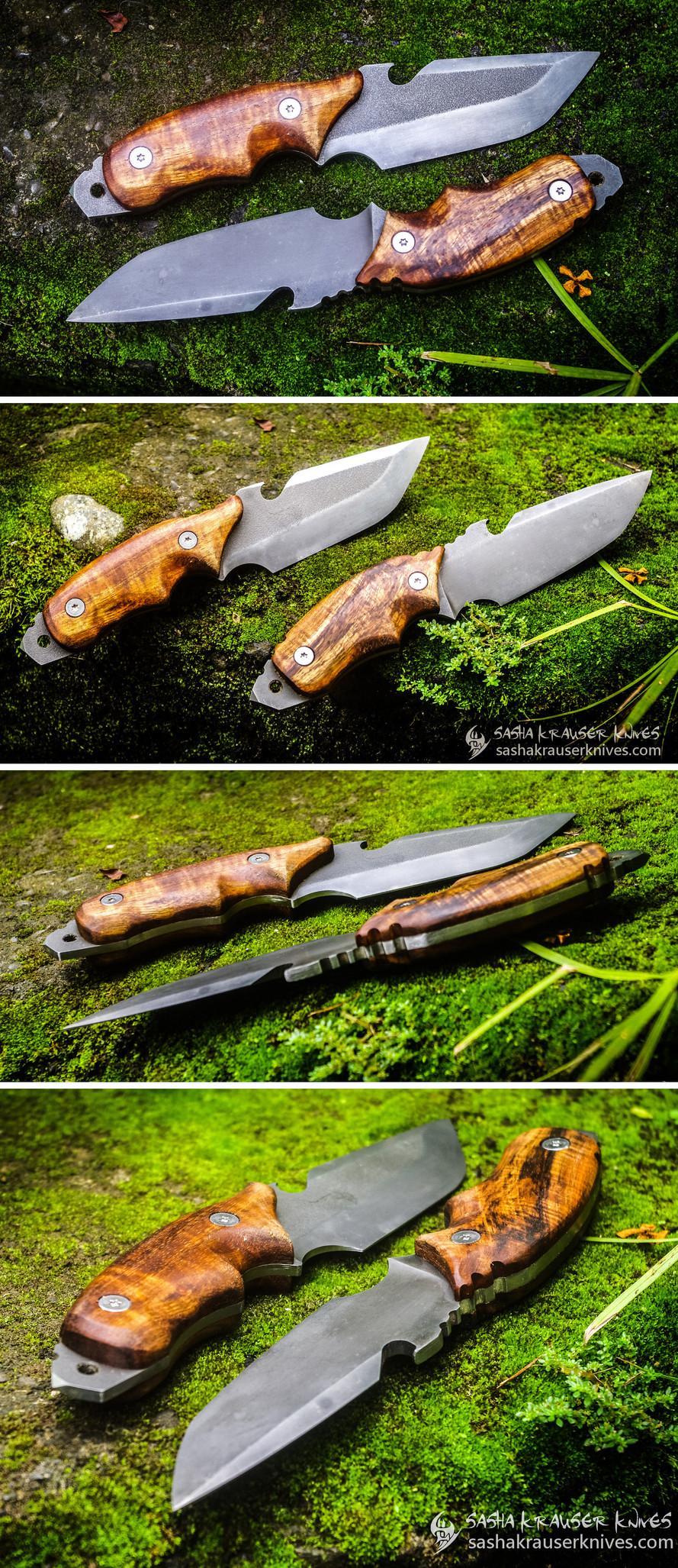 mad krauser finger choil bushcraft knife