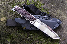 black tactical kydex sheath with tanto gecko