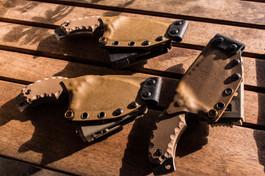 desert tan kydex sheaths on franky4fingers knives