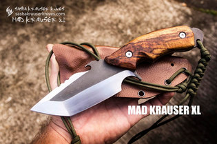 Mad Krauser Xl couteau bushcraft tanto