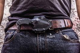 kydex sheath for edc knife fff on belt