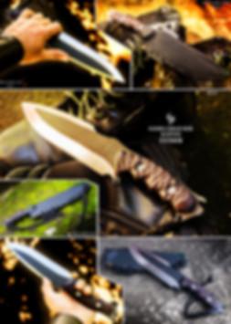 Venom Deadpool bushcraft knife