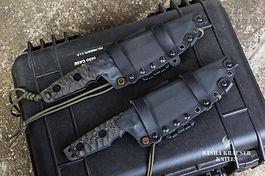tactical kydex sheath on krusader knife