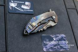 couteau de poche avec clip ceinture en 45ACP