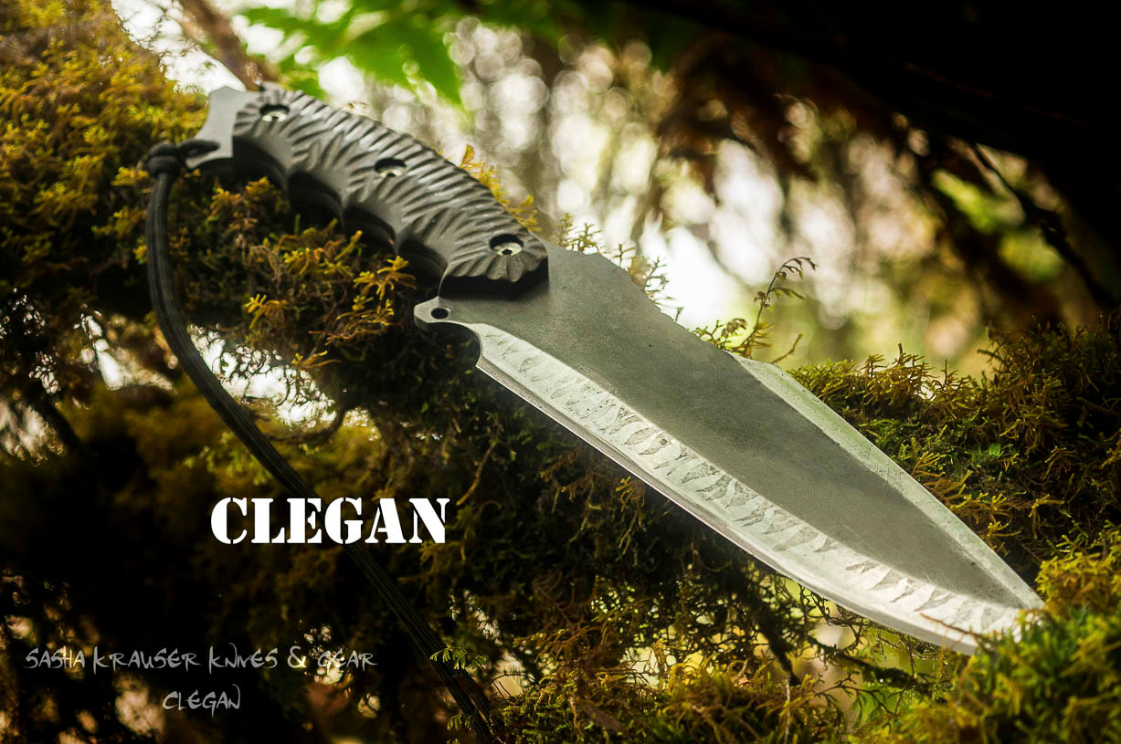 Clegan survival drop point knife