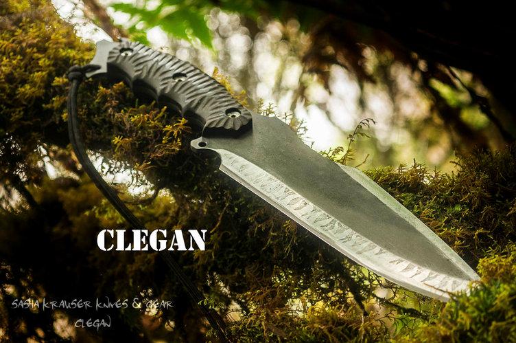 Clégan knife big bowie survival
