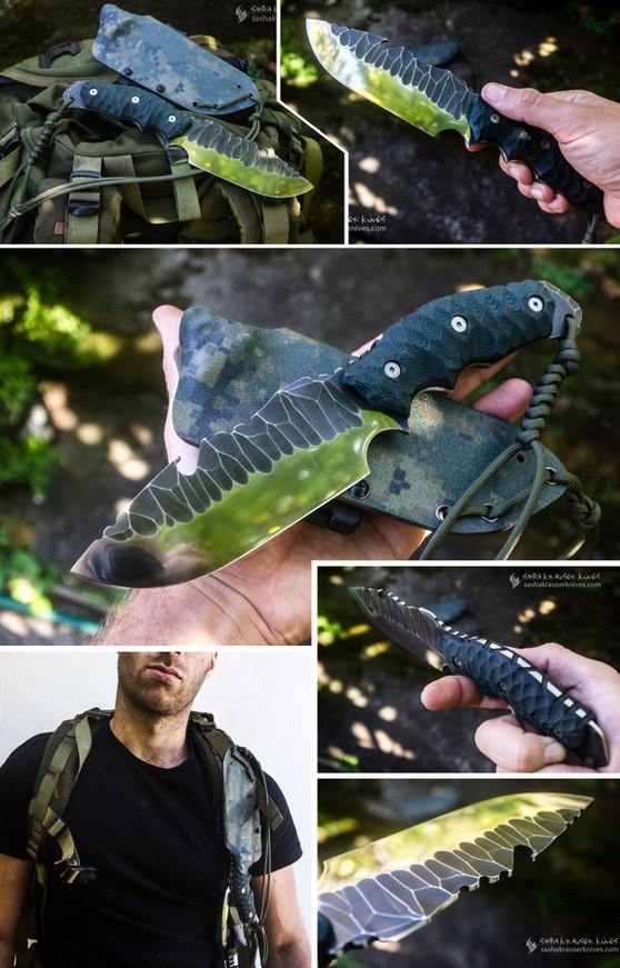 couteau bushcraft n690co  toxifié