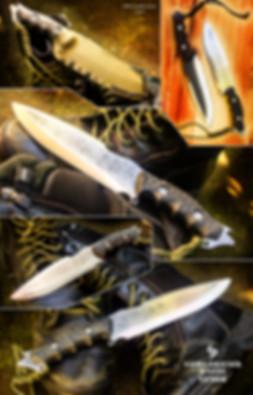 Venom survival drop point knife