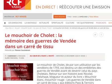 Le mouchoir de Cholet s'invite sur RCF Anjou en compagnie de Nicolas Delahaye