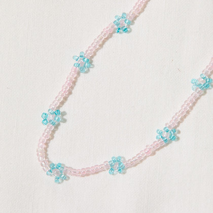 cotton candy daisy chain necklace