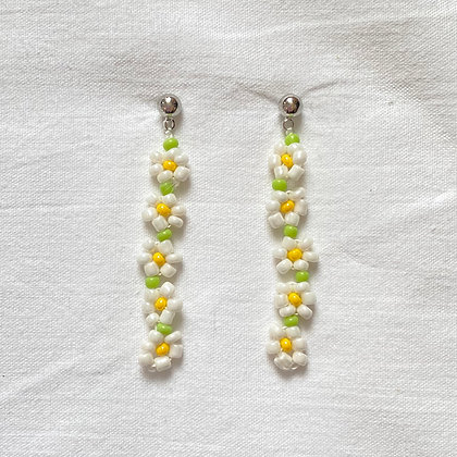 field tri-colored earrings