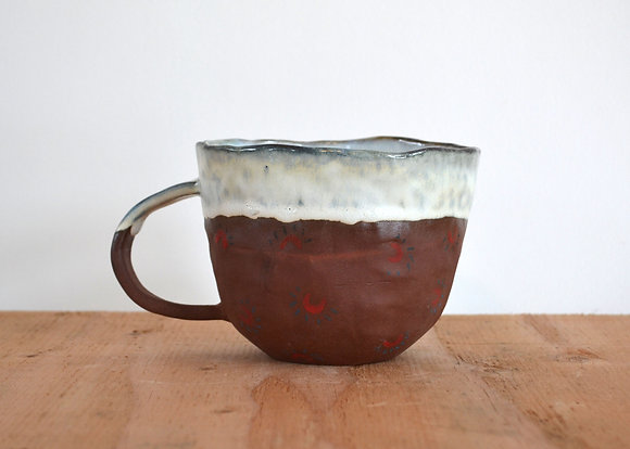 red clay magnet mug