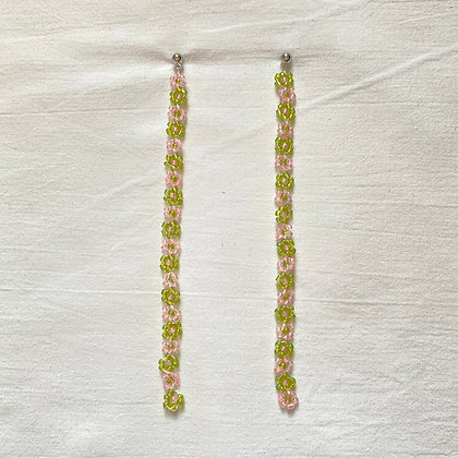 watermelon lotsa daisy earrings