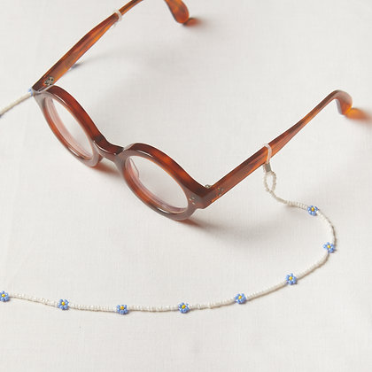 periwinkle mask/glass chain