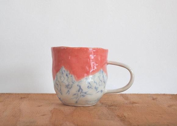 pink mountain mug