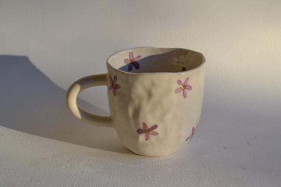 purple daisy mug