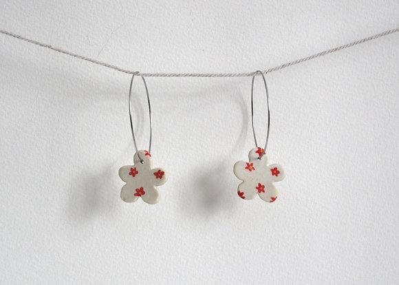 floral flower earring