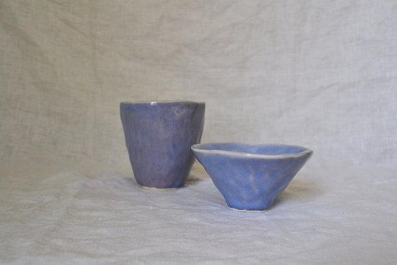 periwinkle tumbler + bowl