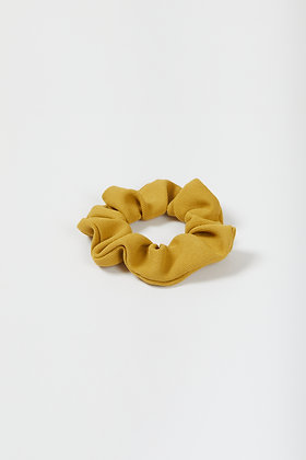 mustard yellow crepe scrunchie