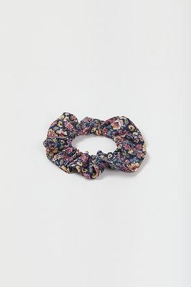 midnight floral scrunchie