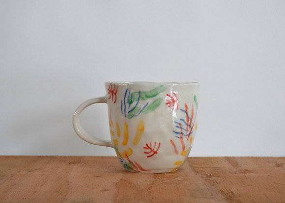 party plant mug tropical
