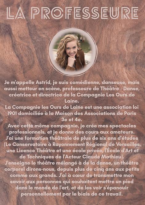 Presentation professeur Astrid PDF stage
