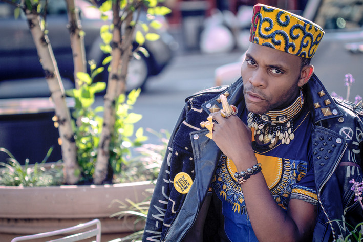Editorial Fashion Photography Portrait of Celebrity Stylist Dapper Afrika shot in NYCs Meatpacking District in Manhattan, New York by Fashion & Headshot Photographer Forrest Renaissance