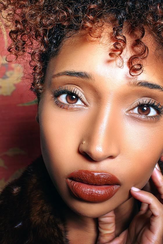 Editorial Fashion Photography Portrait of Yaya Williams shot at HQPixel Studios in Bushwick / East Williamsburg, Brooklyn, New York