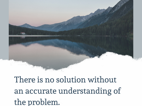 An effective understanding of the problem will lead us to an effective solution
