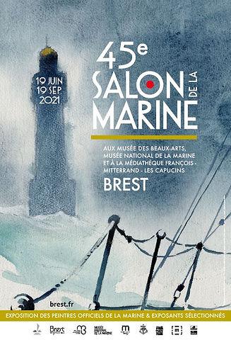 AFFICHE 45EME SALON DE LA MARINE - BREST