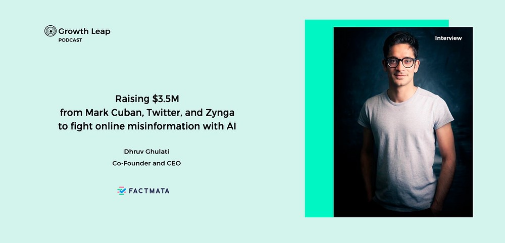 Raising $3.5M from Mark Cuban, Twitter, and Zynga to fight online misinformation with AI