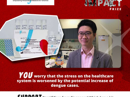 StratifiCare receives recognition for world's first severe Dengue prediction test