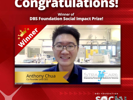 StratifiCare Wins First Prize at Inaugural DBS Foundation Social Impact Prize!