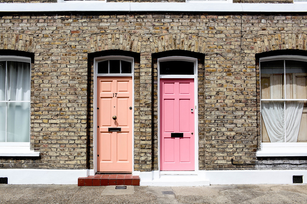 A choice of coloured doors