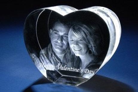 Cristal 3D Coeur (Large)
