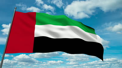 stock-footage-united-arab-emirates-flag-waving-against-time-lapse-clouds-backgro