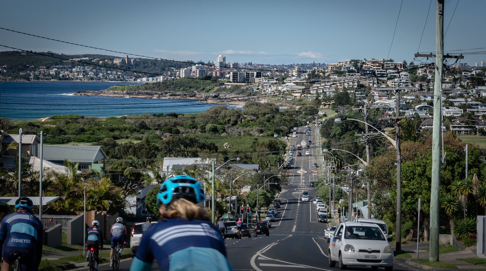 Heading into Manly on the M&M Ride