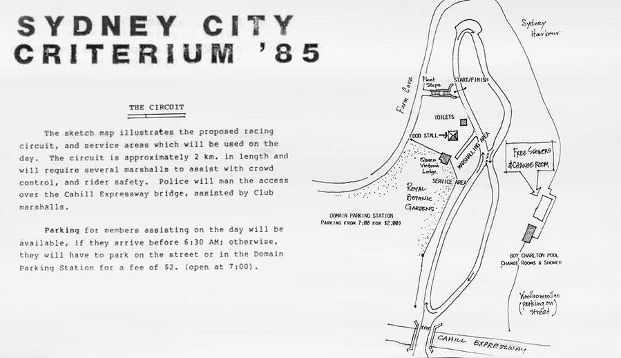 SCC Sydney City Criterium 1985