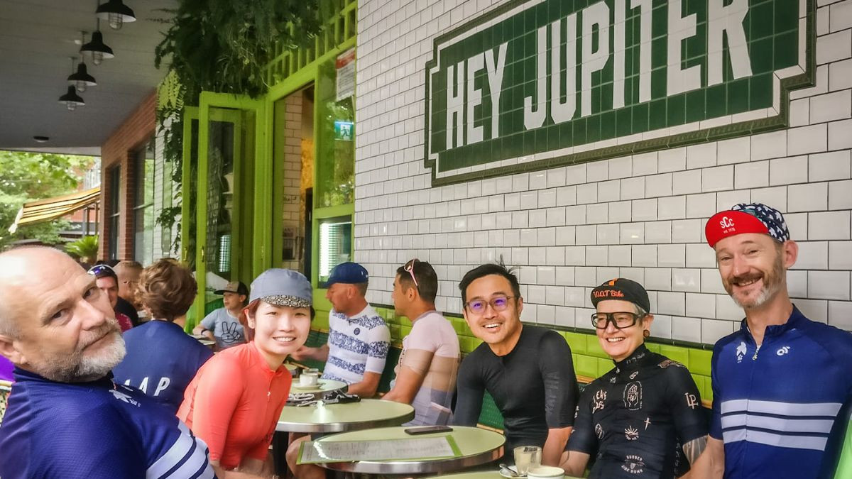 Post ride refreshments at Hey Jupiter