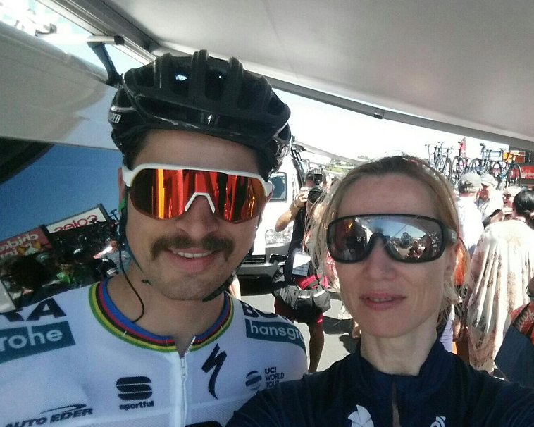 Peter Sagan and Nicky