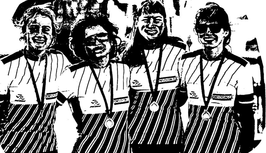 1991 NSW Time Time Trial Silver Medalists for SCC Sydney Cycling Club